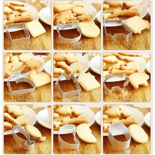 Specialized Metal Alloy Cake, Cookie Bakeware Mould Fondant, Cookie Cutters