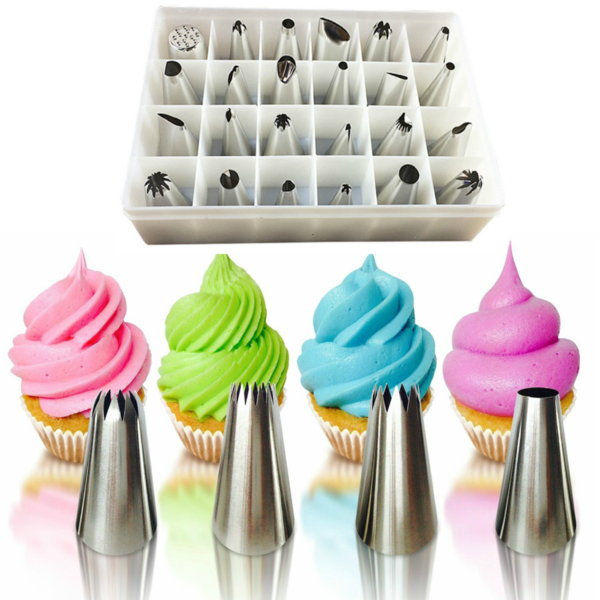 FREE Stainless Steel 24 Pc Cake Decorating tips