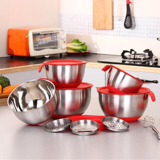 Stainless MIxing Bowls with Covers