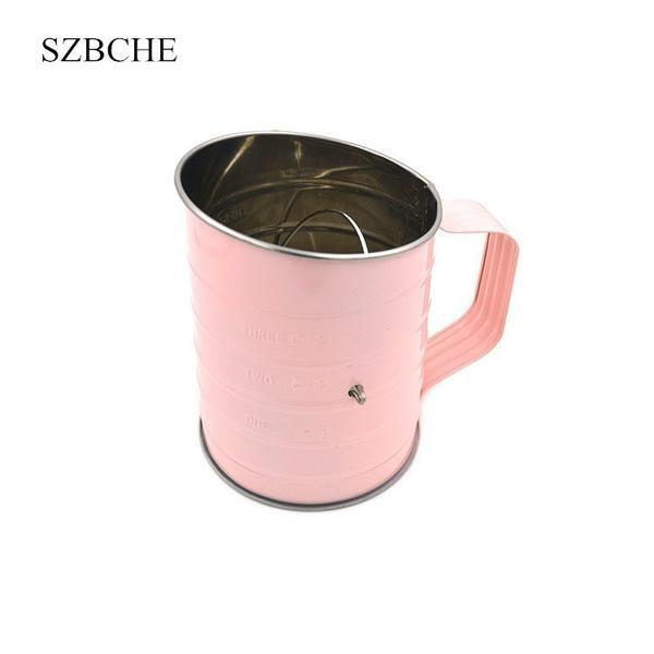 Stainless steel flour/powder sieve cup