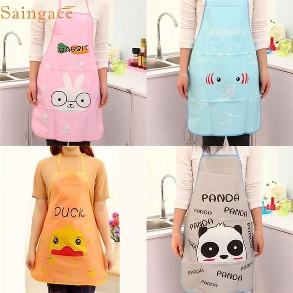 Lovely Pet-printed Waterproof Cookng Apron