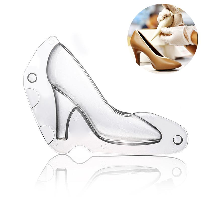 Big Size Plastic DIY 3D High-Heeled Shoe Chocolate Mold