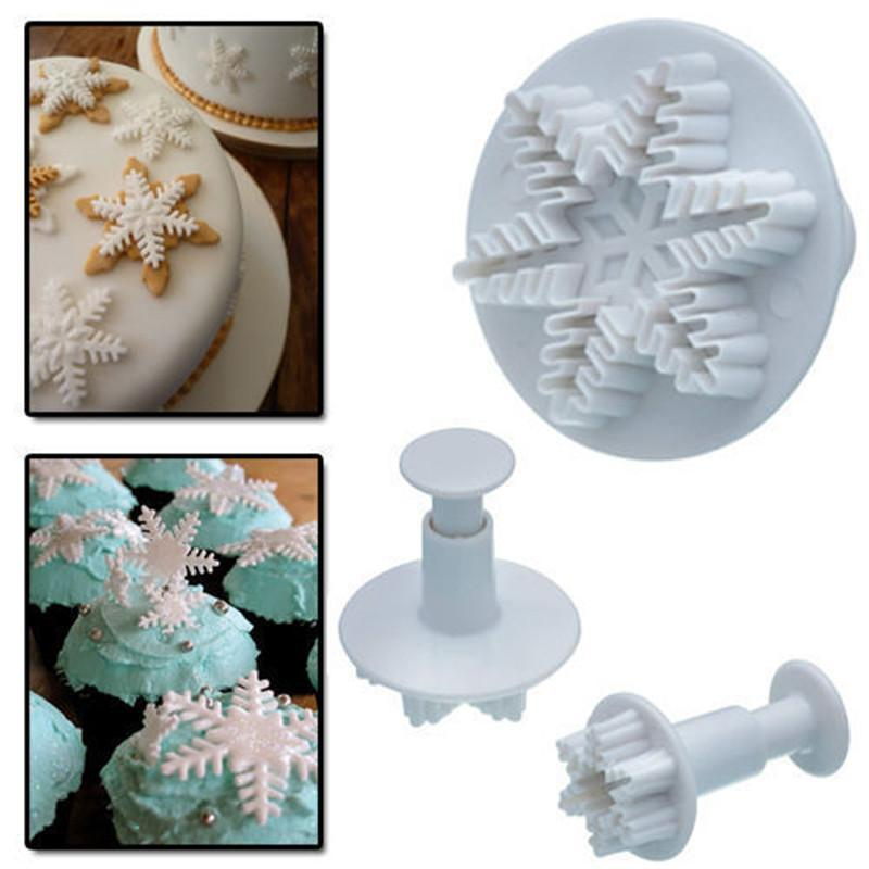 3x Cake Fondant, Pastry Cutter Plunger