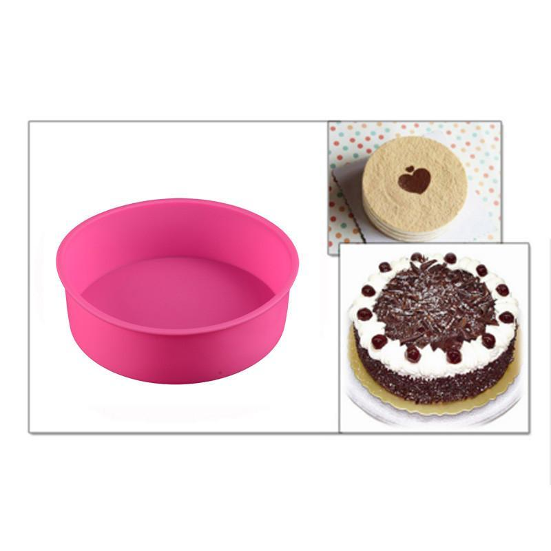 3D Non Stick Round-Shaped  Soap Cake Mold