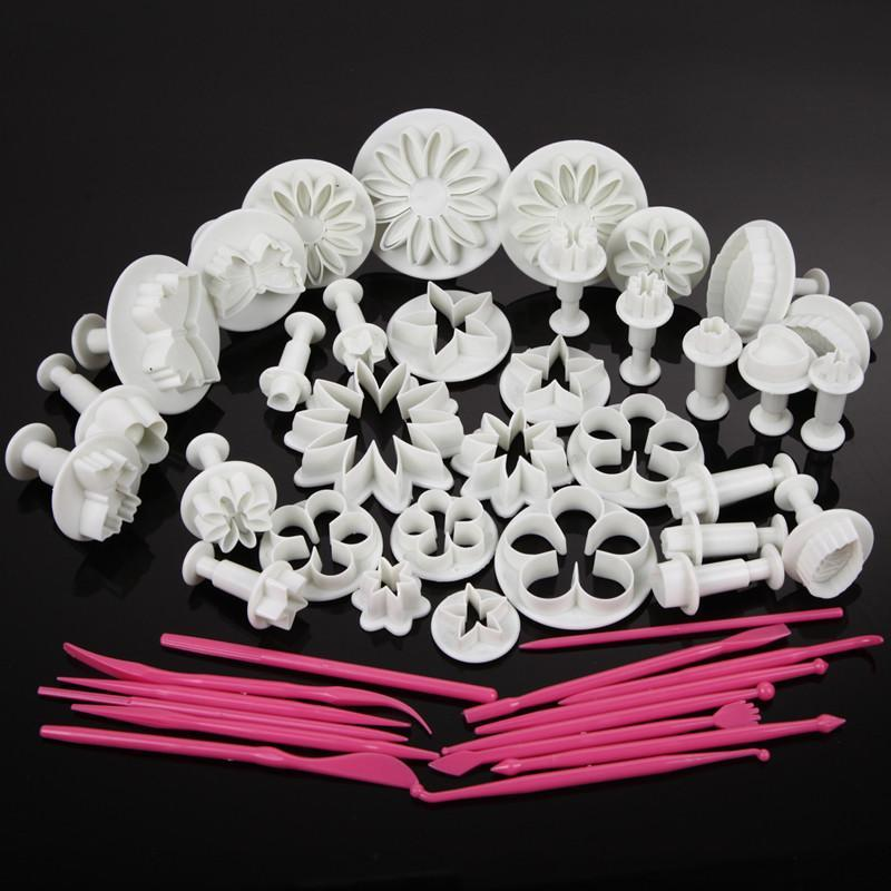 47 Pcs DIY  Sets Cake Decorating Icing Plunger