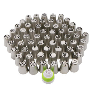 62 Pcs Stainless Steel Russian Piping Nozzles