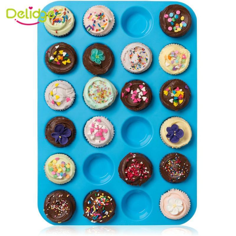 24-Holed Cupcake Non-Stick Mold