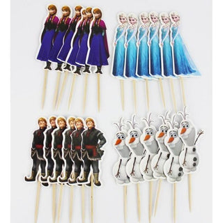 24 PCS/Lot Frozen Movie Characters Cake Toppers