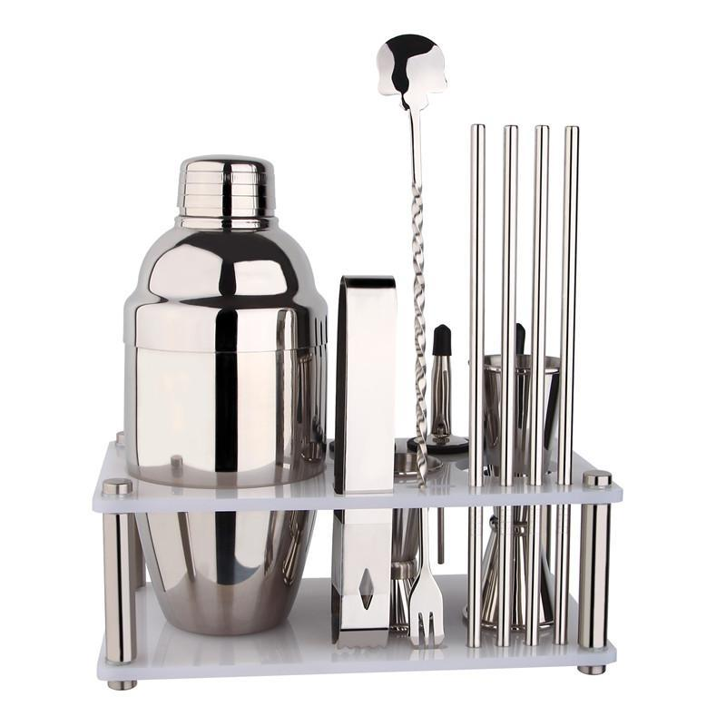 12 Pieces Premium Barware Set with 550 ML Shaker