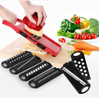Adjustable Vegetable Slicer w/ Steel Blades