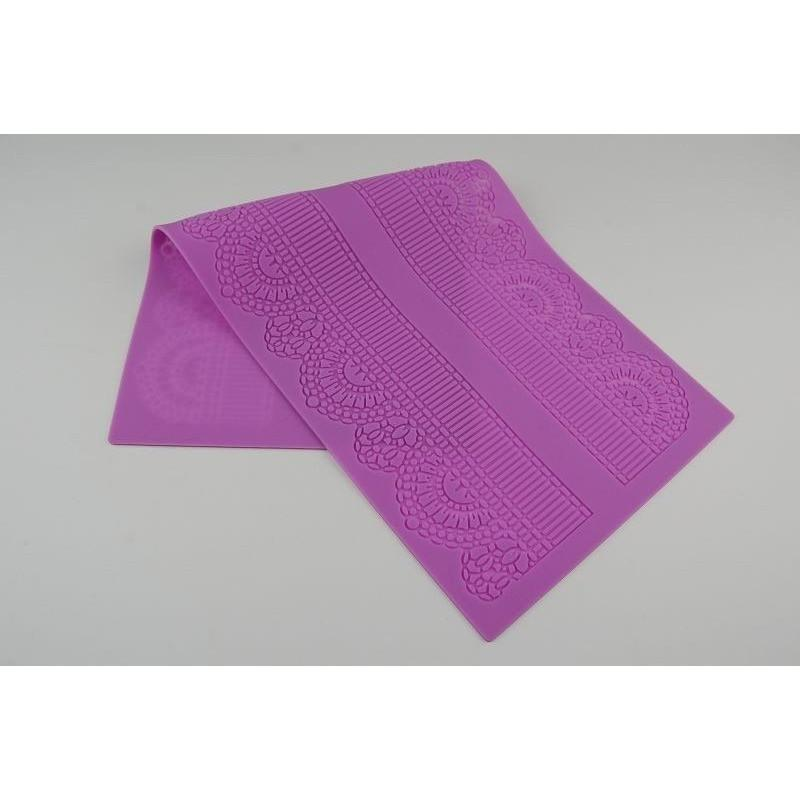 40 x 17cm Silicone Lace Mat Cake Decorating Fondant Mold FLOWER Design