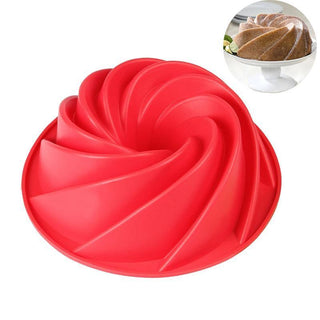 9 Inch 3D Silicone Mold Spiral Cake Mold