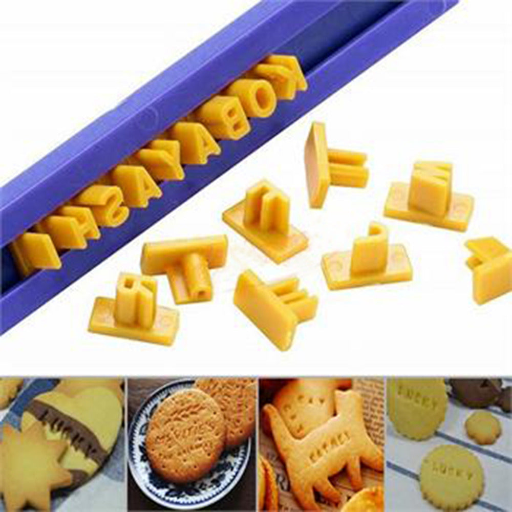 Alphabet Letter and Number Cookie and Biscuit Stamp, Embosser