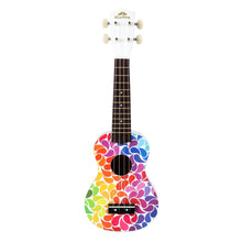 MAKANUMUSIC Soprano Ukulele Colorful Painting Hawaii Guitar 21 inch Gift for Beginner