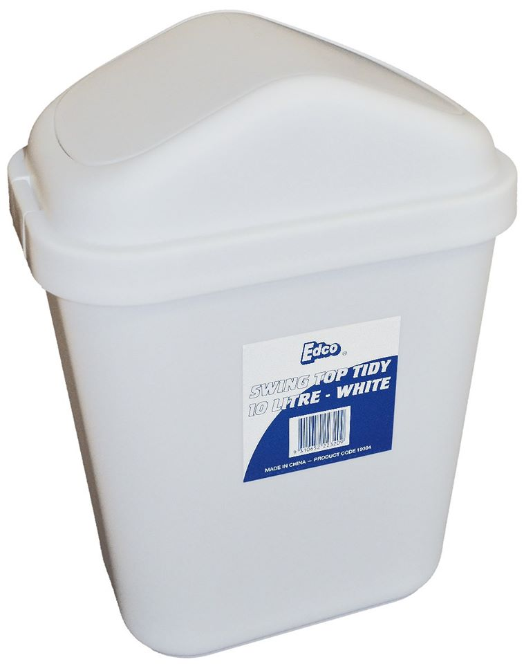 Swingtop Tidy Bin 30L White