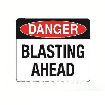 Danger - Blasting Ahead Safety Sign - SFI Orbimax