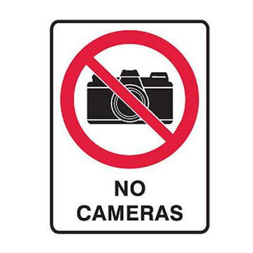 No Cameras Safety Sign - SFI Orbimax