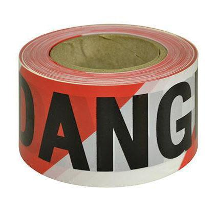 Red & White Danger Tape - SFI Orbimax