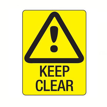 Keep Clear Safety Sign - SFI Orbimax