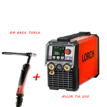 MicorTIG 200 Control Pro with 8m Basic torch