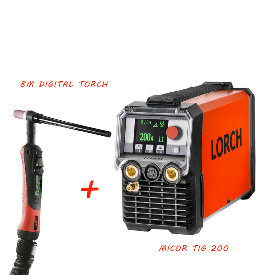 Lorch MicorTIG 200 Control Pro with 8m Digital torch