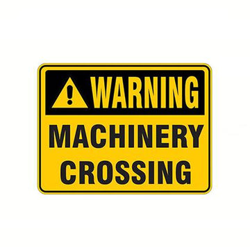 Warning Machinery Crossing Safety Sign - SFI Orbimax