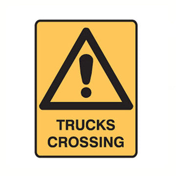 Trucks Crossing Safety Sign - SFI Orbimax
