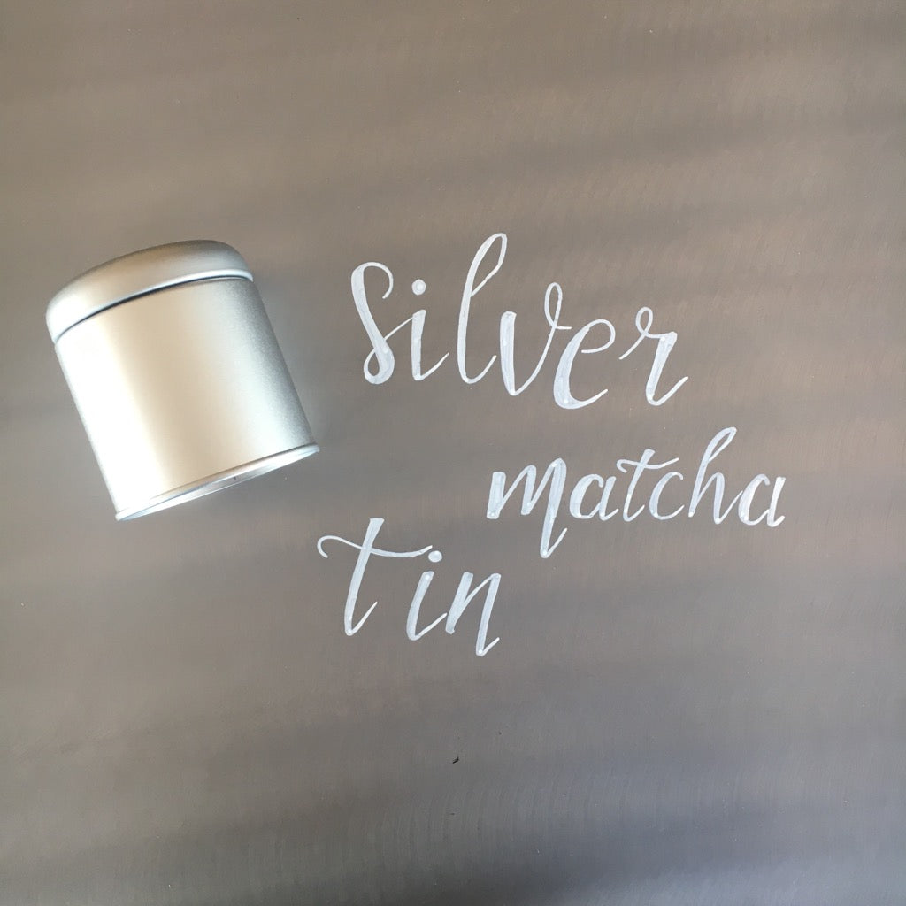 Three 6 Tea Silver Matcha Tin