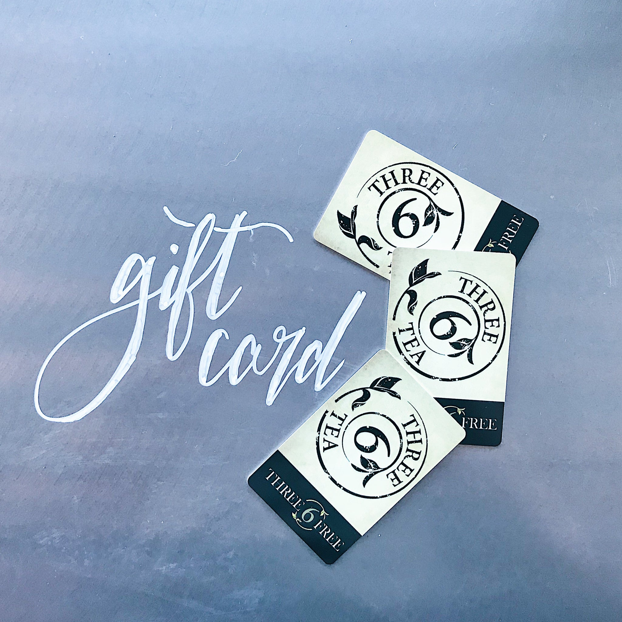 Three 6 Tea Gift Cards