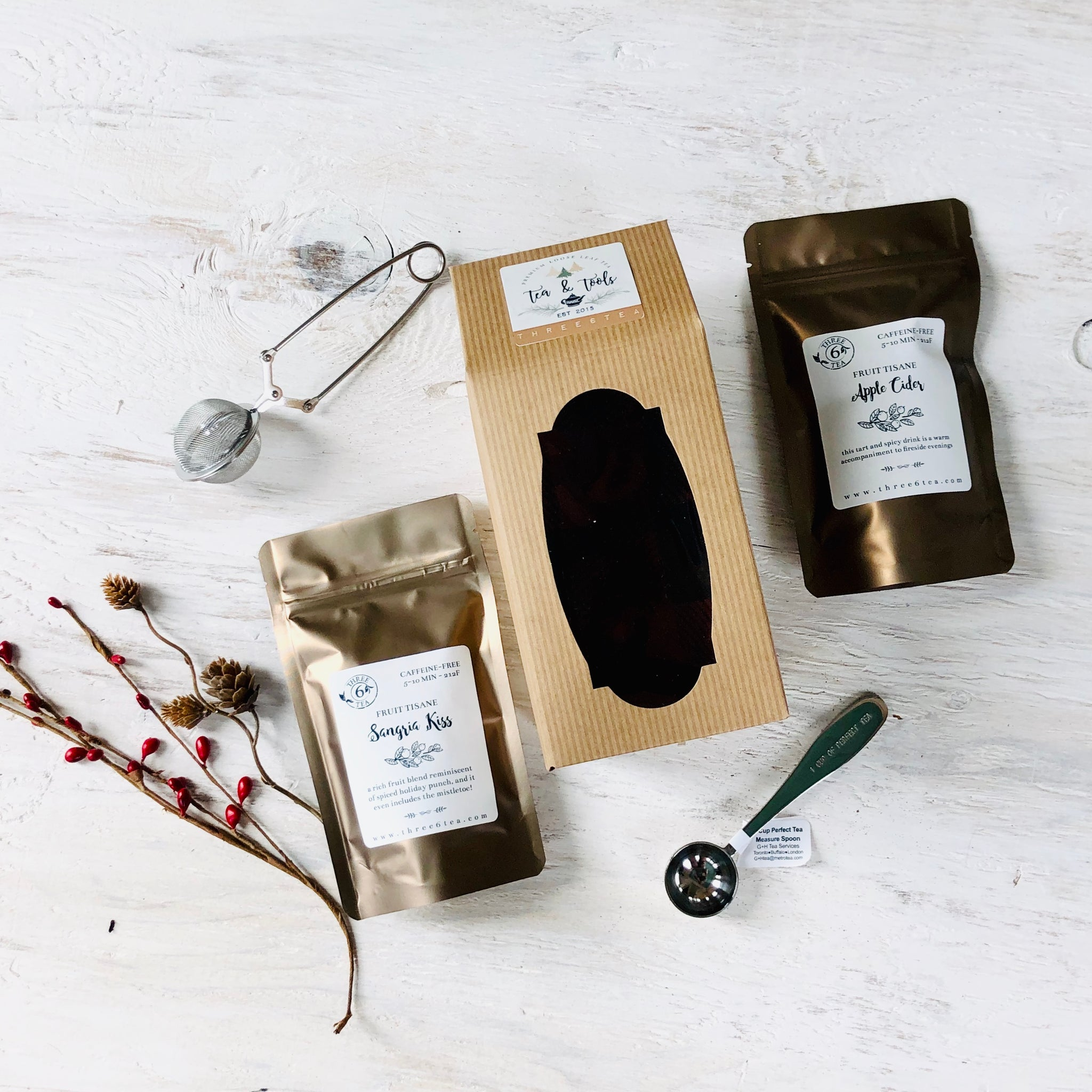 Three 6 Tea - Tea & Tools Gift Set