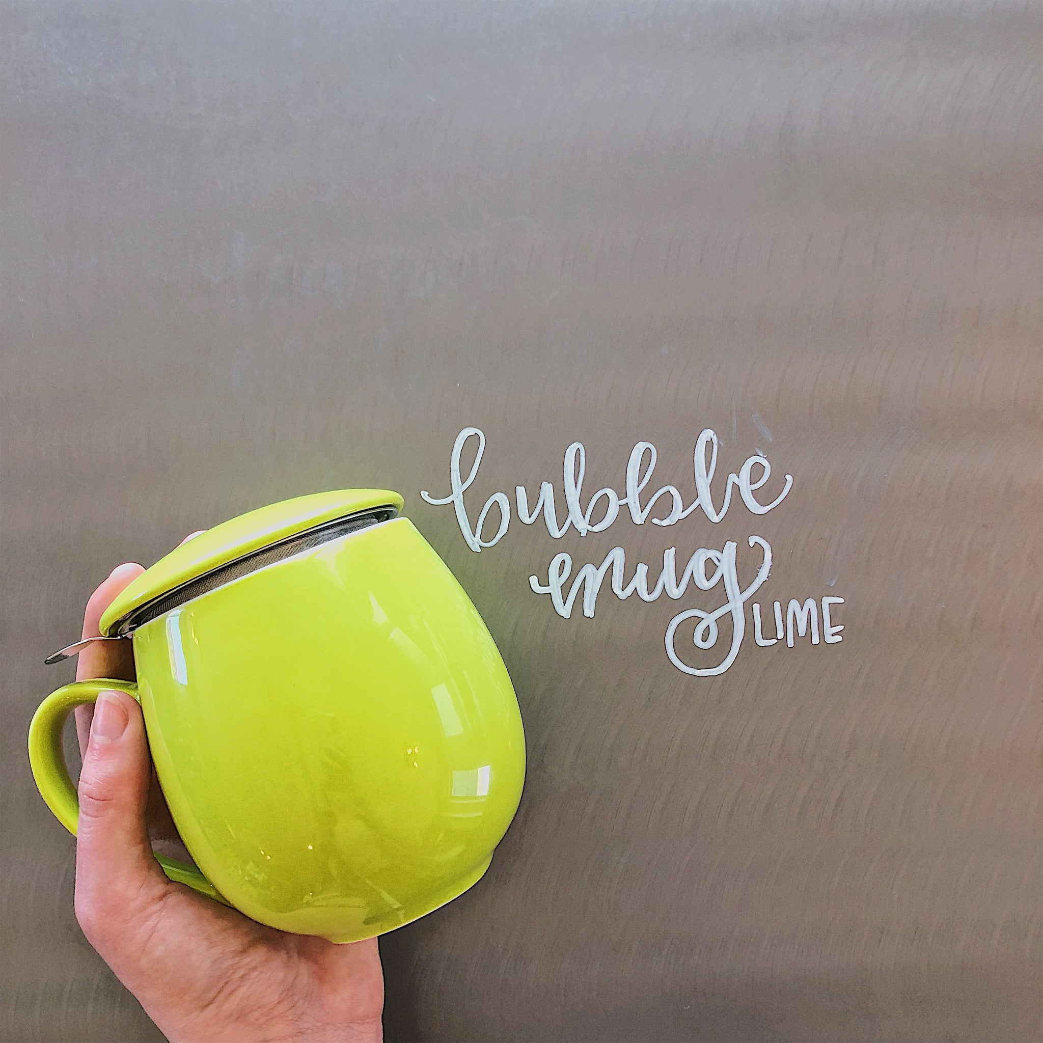 Lime Green Bubble Mug