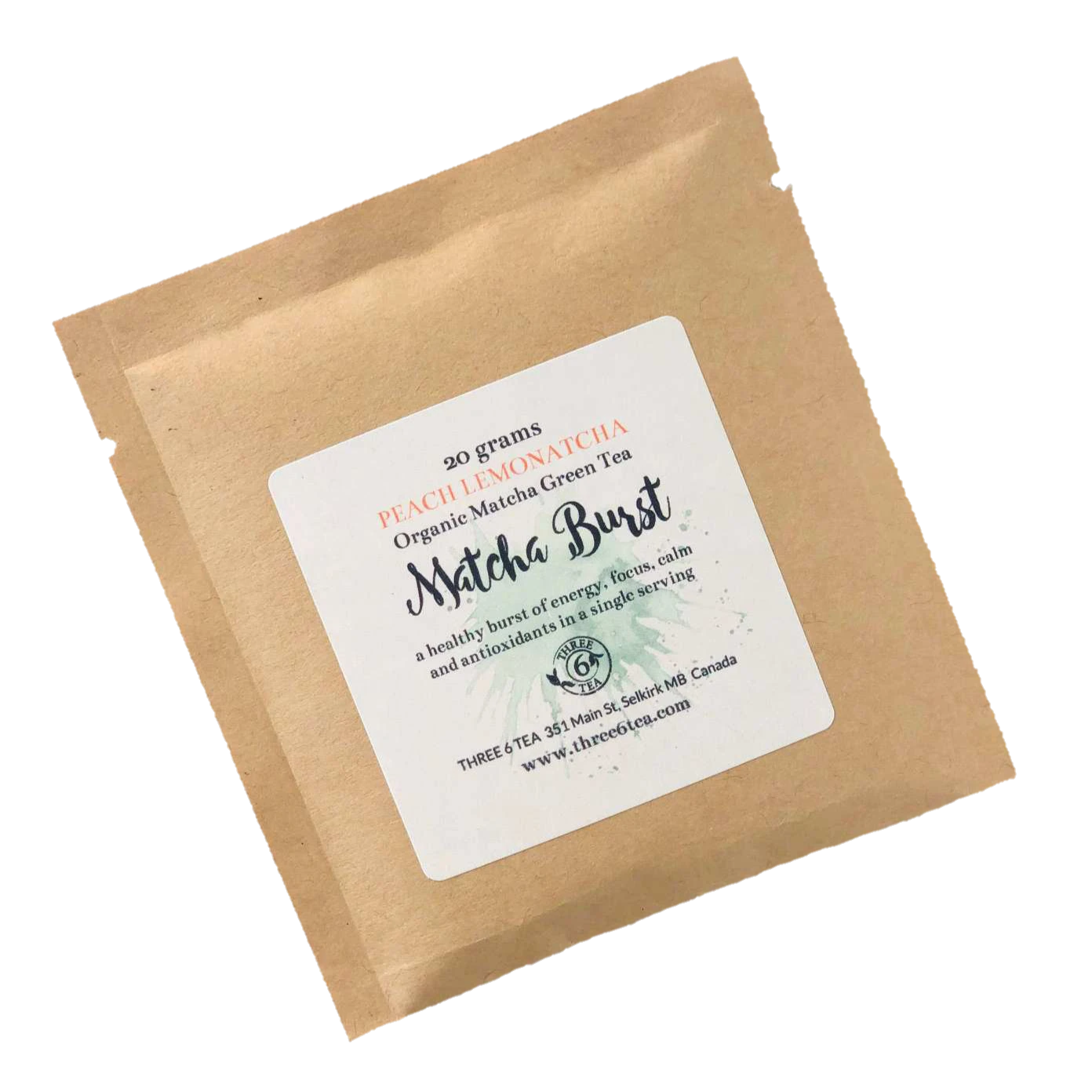 Three 6 Tea - Peach Lemonatcha Matcha Burst