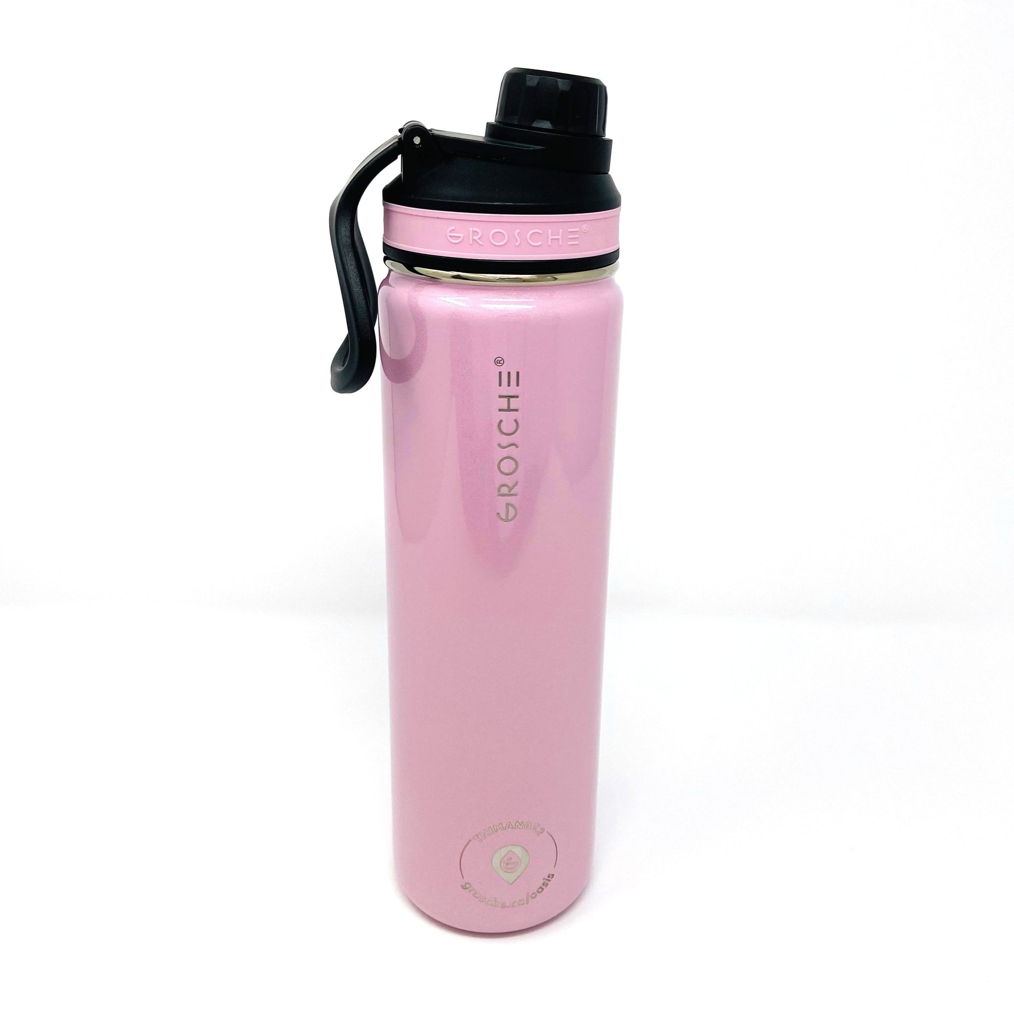 Grosche Oasis Infusion Water Bottle - Rose Quartz