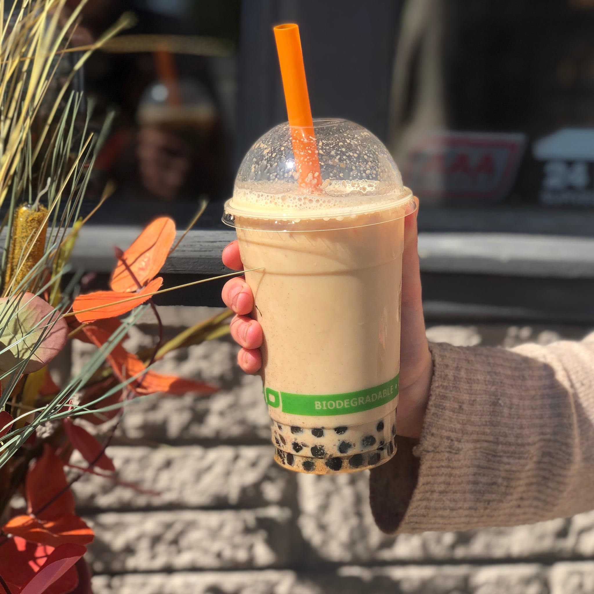 Three 6 Tea - Pumpkin Pie Bubble Tea