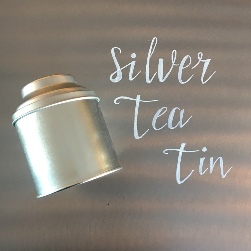 Three 6 Tea Silver Tea Tin
