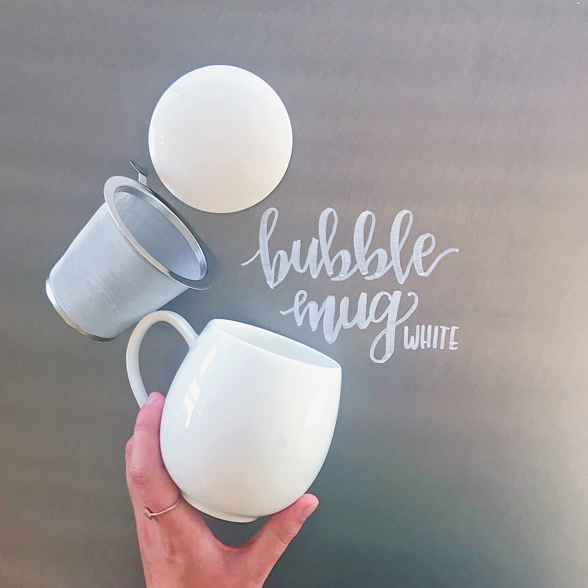 Three 6 Tea - White Bubble Mug