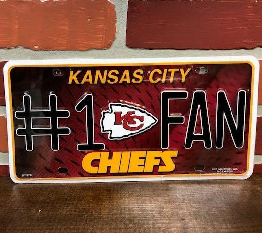 KC Chiefs License Plate Accessories Calico Ink