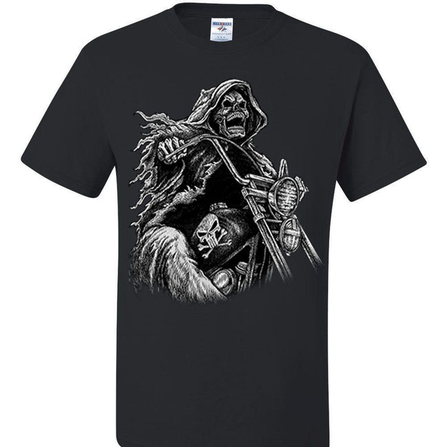Grim Reaper Riding Motorcycle, [product_type} - Calico_Ink