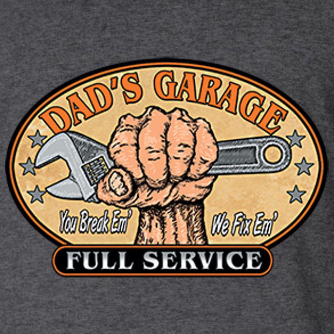 Dad's Garage T Shirt by Calico Ink