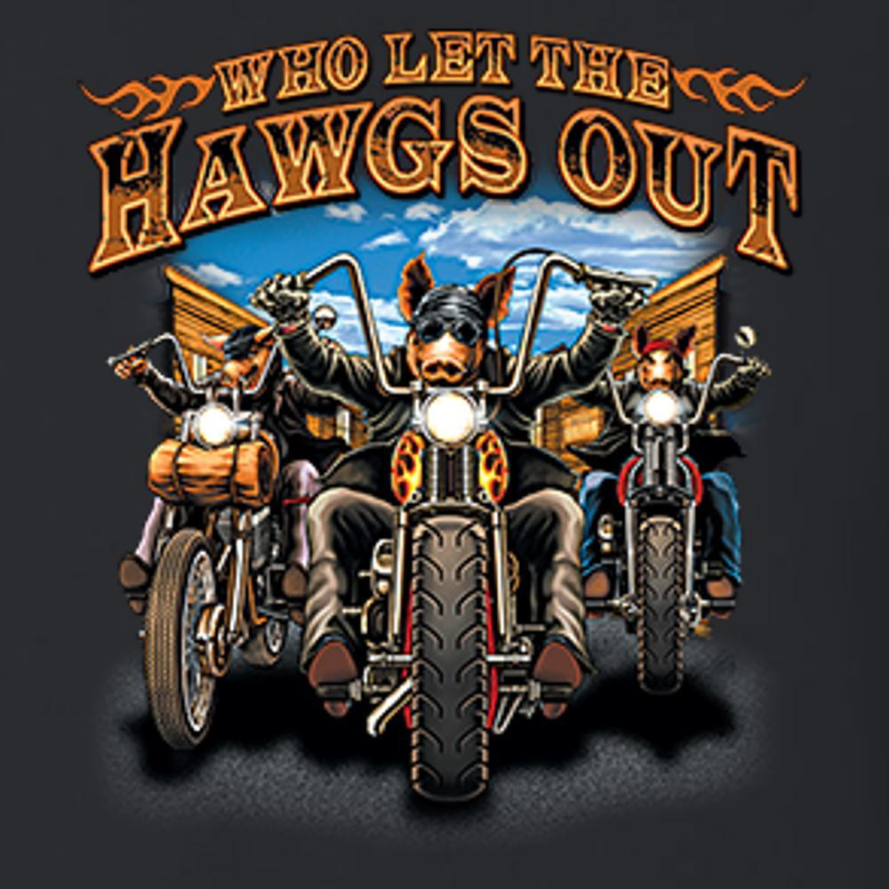 Who Let The Hawgs Out T Shirt Short Sleeve T-Shirt Calico Ink