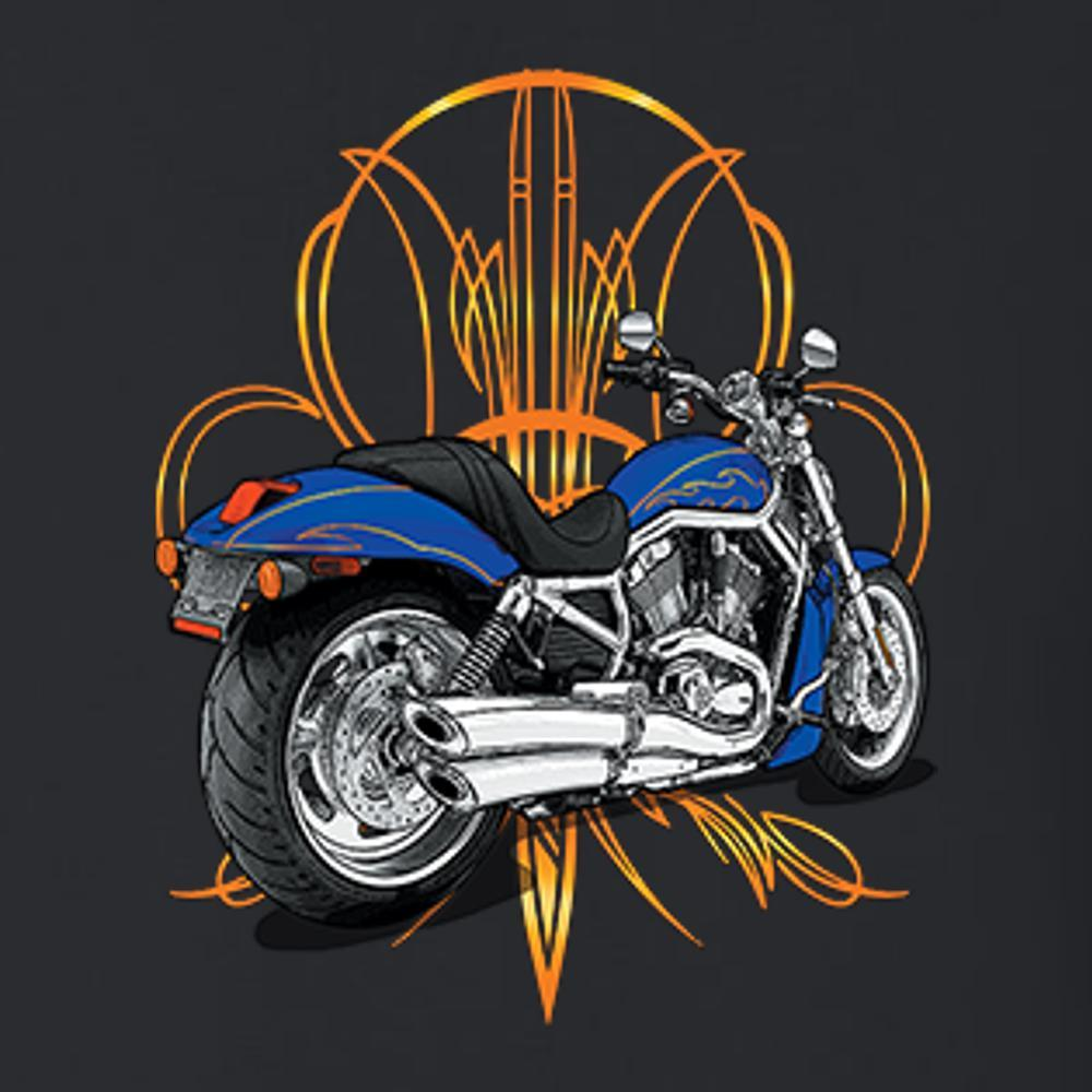 Motorcycle Design T Shirt Short Sleeve T-Shirt Calico Ink