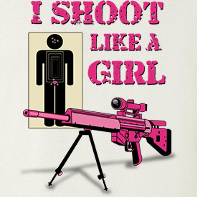 I Shoot Like A Girl (Pink Assault Rifle), [product_type} - Calico_Ink