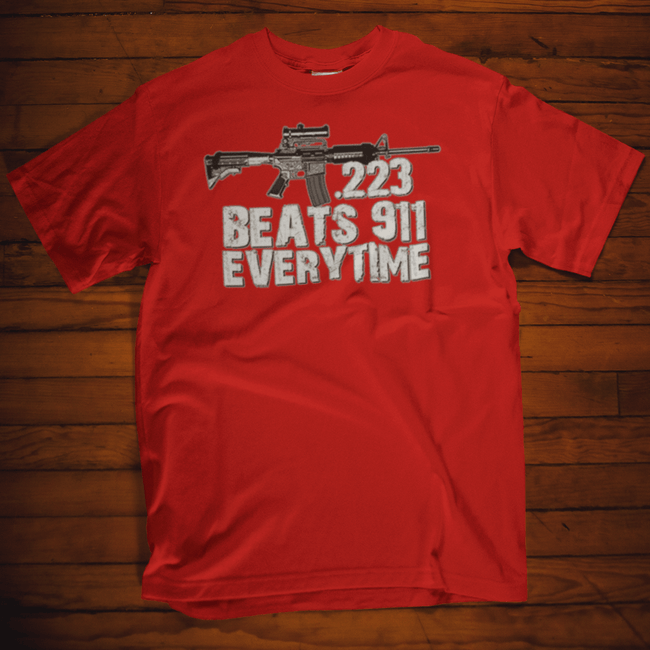.223 Beats 911 Everytime T Shirt Short Sleeve T-Shirt Calico Ink