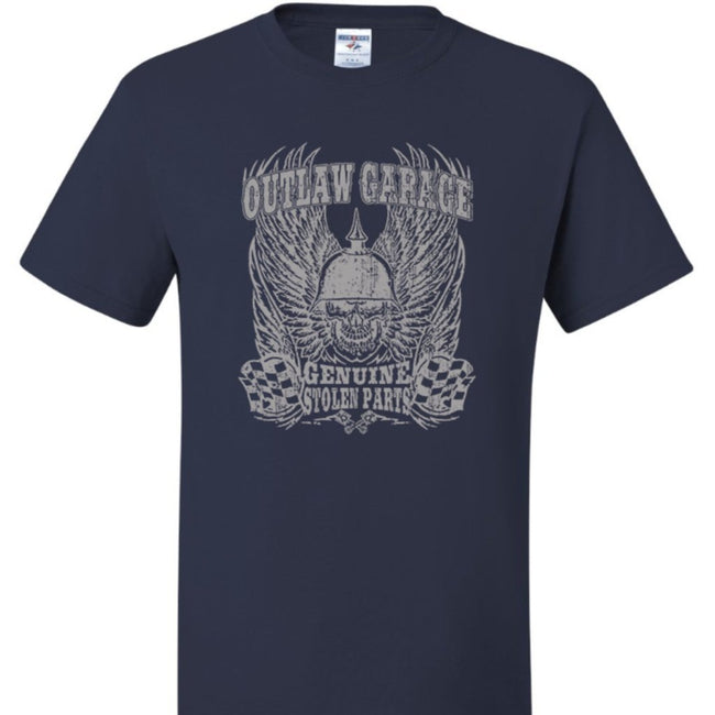 Outlaw Garage, Genuine Stolen Parts Calico Ink T Shirt