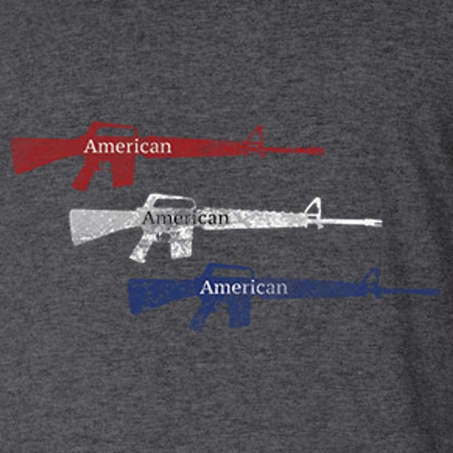 American Rifle - Red - White - Blue T Shirt Short Sleeve T-Shirt Calico Ink