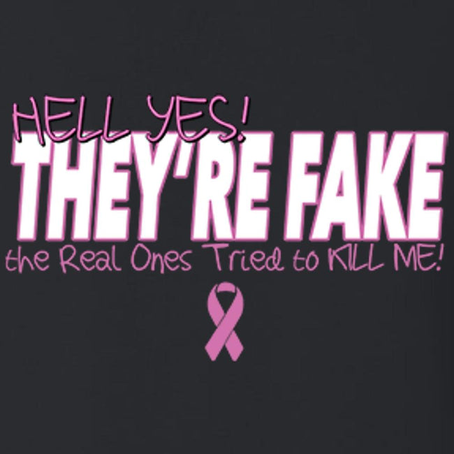 Hell Yes They're Fake T Shirt Short Sleeve T-Shirt Calico Ink