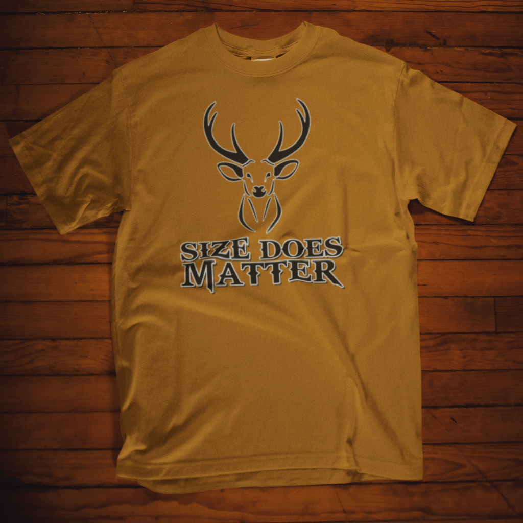 Size Does Matter Calico ink T Shirt