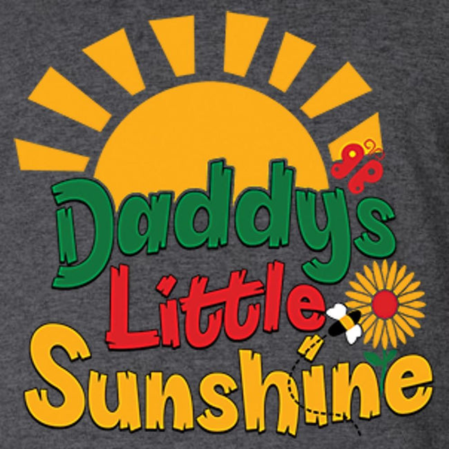 Daddy's Little Sunshine T Shirt Youth T-Shirt Calico Ink