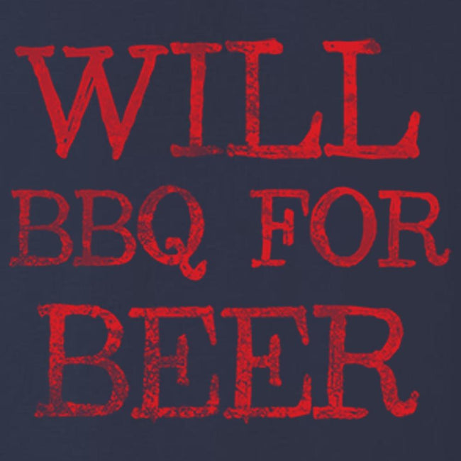Will BBQ For Beer T Shirt Short Sleeve T-Shirt Calico Ink