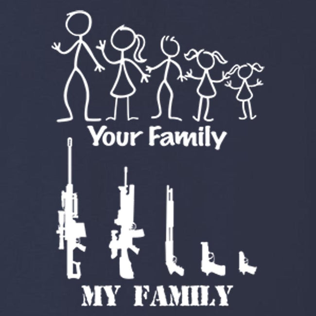 Your Family - My Family T Shirt Short Sleeve T-Shirt Calico Ink